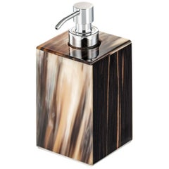 Iris Soap Dispenser in Glossy Ebony with Corno Italiano Inlays Mod. 4771