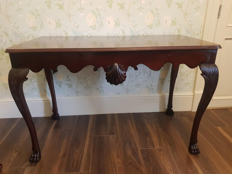 Irish 19th Century Finely Carved Mahogany Side Table Attributed to James Hicks For Sale 6