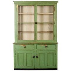 Irish 19th Century Painted Pine Pot Board Dresser