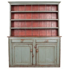 Irish 19th Century Polychrome Pine Pot Board Dresser