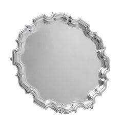 Irish Chippendale Border Sterling Silver Salver by West & Son of Dublin