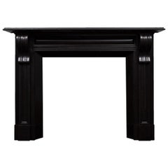 Irish Corbel Black Marble Fireplace Mantel