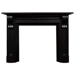 Irish Corbel Black Marble Fireplace Mantel