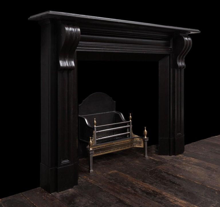 Regency Irish Corbel Marble Fireplace For Sale