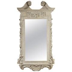 Irish George II Painted Mirror in the Kentian Manner