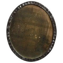 Irish George III Style Oval Border Glass Mirror
