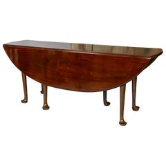 Irish Georgian Mahogany Drop-Leaf Dining Table