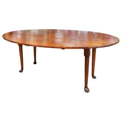 Irish Georgian Style Drop-Leaf Dining Table