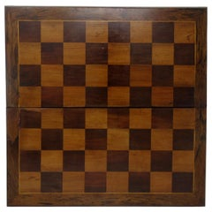 Irish Killarney Kerry Arbutus Wood Antique Chess Backgammon Games Board 19thCent