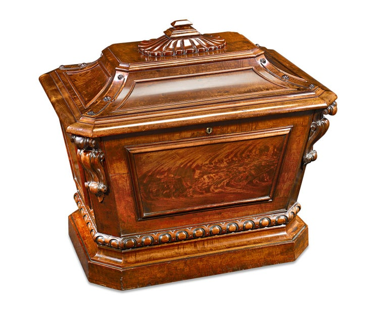 Regency Irish Mahogany Wine Cellarette For Sale