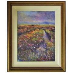 Irish Oil on Canvas of Clifden Bog by Seamus Coleman