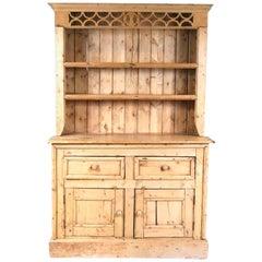 Irish Pine Step-back Cupboard, 19th Century