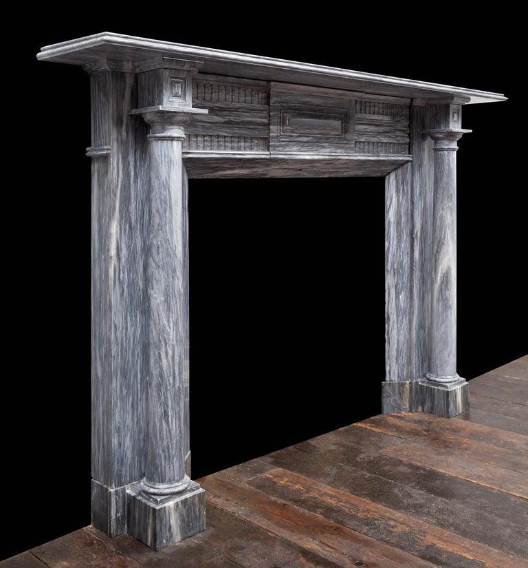 Carved Irish Regency Fireplace For Sale