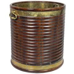 Irish Regency Mahogany And Brass Peat Bucket