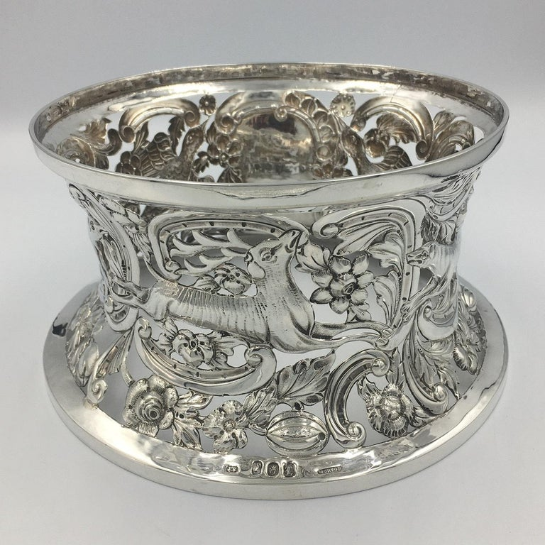 Irish Silver Dish Ring In Good Condition For Sale In Edenbridge, Kent