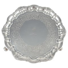 Irish Silver Salver, Richard Williams, Dublin, circa 1760