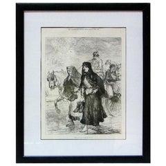 Irish Sketches Going to Church Illustration