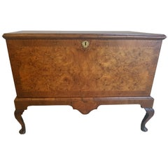 Irish Walnut George 1 Silver Chest