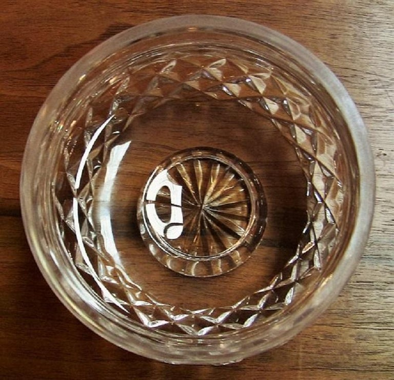 Modern Irish Waterford Crystal Bowl Comeragh Pattern For Sale