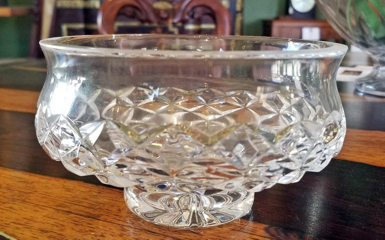 Irish Waterford Crystal Bowl Comeragh Pattern In Excellent Condition For Sale In Dallas, TX
