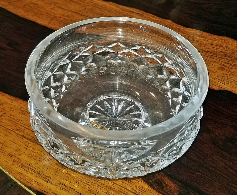20th Century Irish Waterford Crystal Bowl Comeragh Pattern For Sale