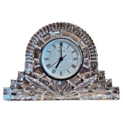 Irish Waterford Large Silver Rimmed Cottage Clock