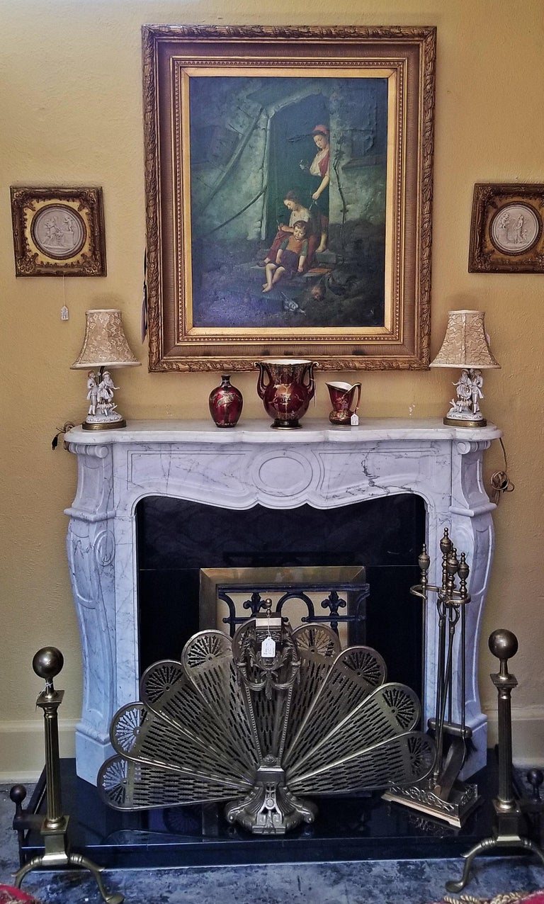 Irish White Marble Complete Fireplace For Sale At 1stdibs