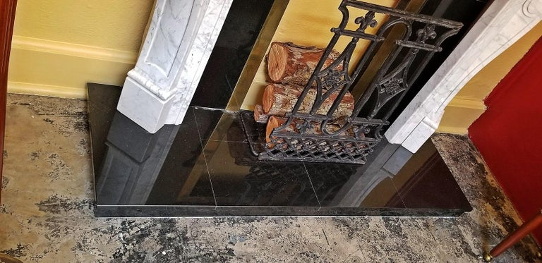 Irish White Marble Complete Fireplace For Sale 2