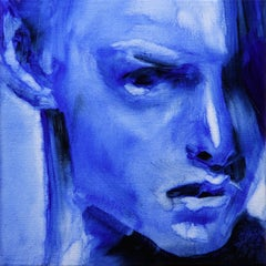 Blue motion, Painting, Oil on Canvas