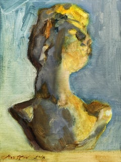 Bust 24 x 18 cm., Painting, Oil on Canvas