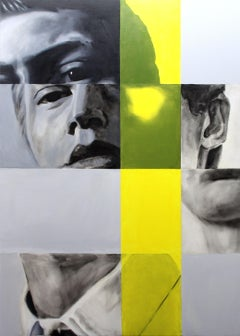 Quantum Motion and Artificial Yellow Lighting 140, Painting, Oil on Canvas