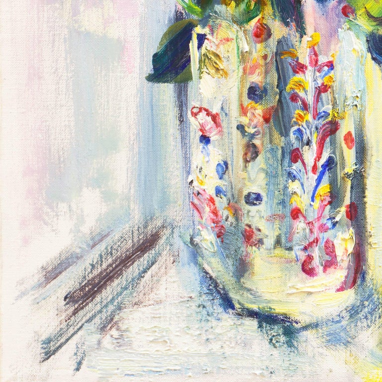 'Roses in a Millefiori Vase', Salon d'Automne, Paris, San Francisco Museum, SFAA For Sale 1