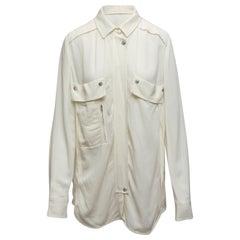 Iro White Long Sleeve Button-Up Top