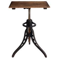 Iron Adjustable Typist Table, England, circa 1920
