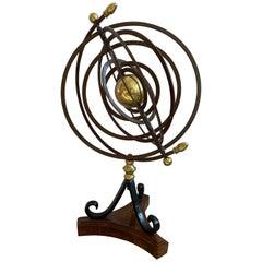 Iron and Brass Celestial Sphere Armillary