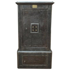 Iron and Brass Safe Cabinet by Gruson, France, circa 1900