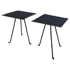 Iron and Bronze Tripod Tables
