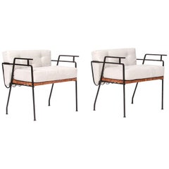 Iron and Cane Chairs by Salterini