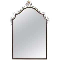 Iron and Gilt Tole Mirror From the 1920's