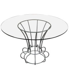 Iron and Glass Round Table by Rebar
