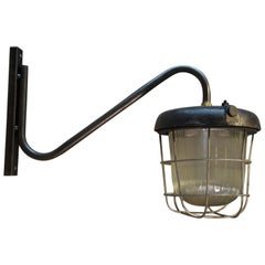 Iron and Glass Street Lanterns Wall Lights Sconces, 1920s
