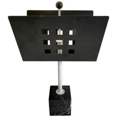 Iron and Marble Magazine Rack, in the Manner of Josef Hoffmann