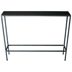 Iron and Melamine Petite Console Table, 1980