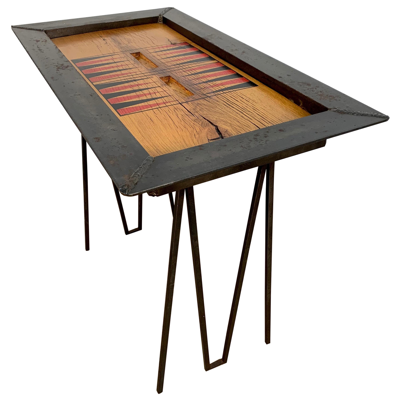 Iron and Oak Backgammon Table