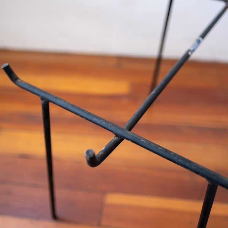 Iron and Rattan Tray Table Midcentury For Sale 2