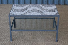 Iron and Terrazzo End Table, Italy, 1960s