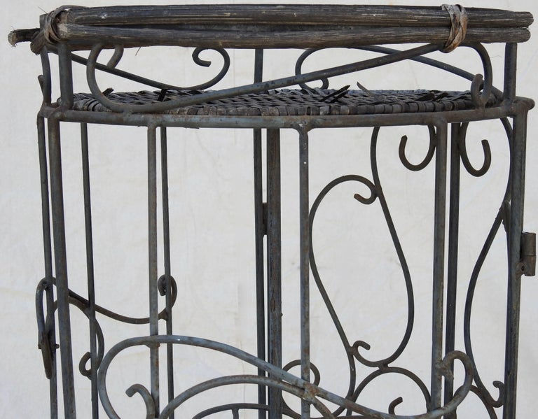 Iron and Wicker Wine Rack, 20th Century For Sale 5