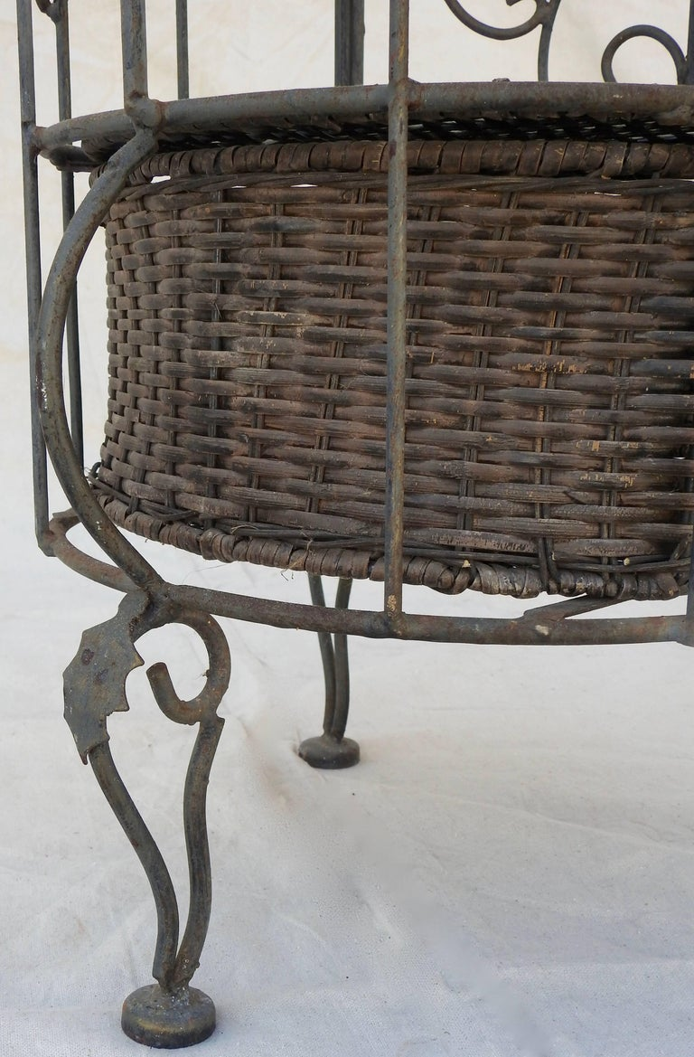 Iron and Wicker Wine Rack, 20th Century For Sale 7