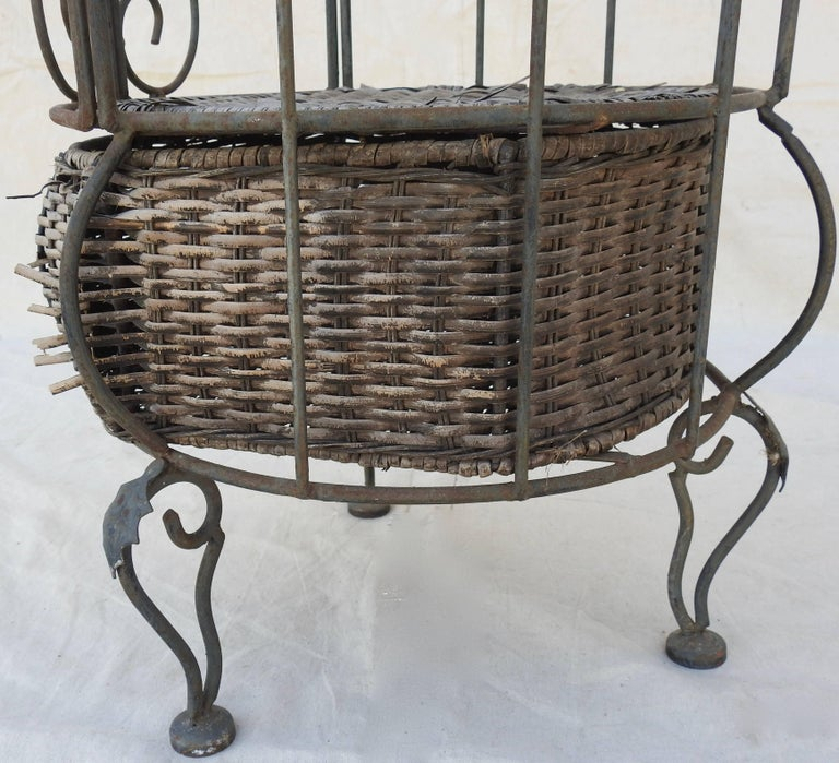 Iron and Wicker Wine Rack, 20th Century For Sale 11