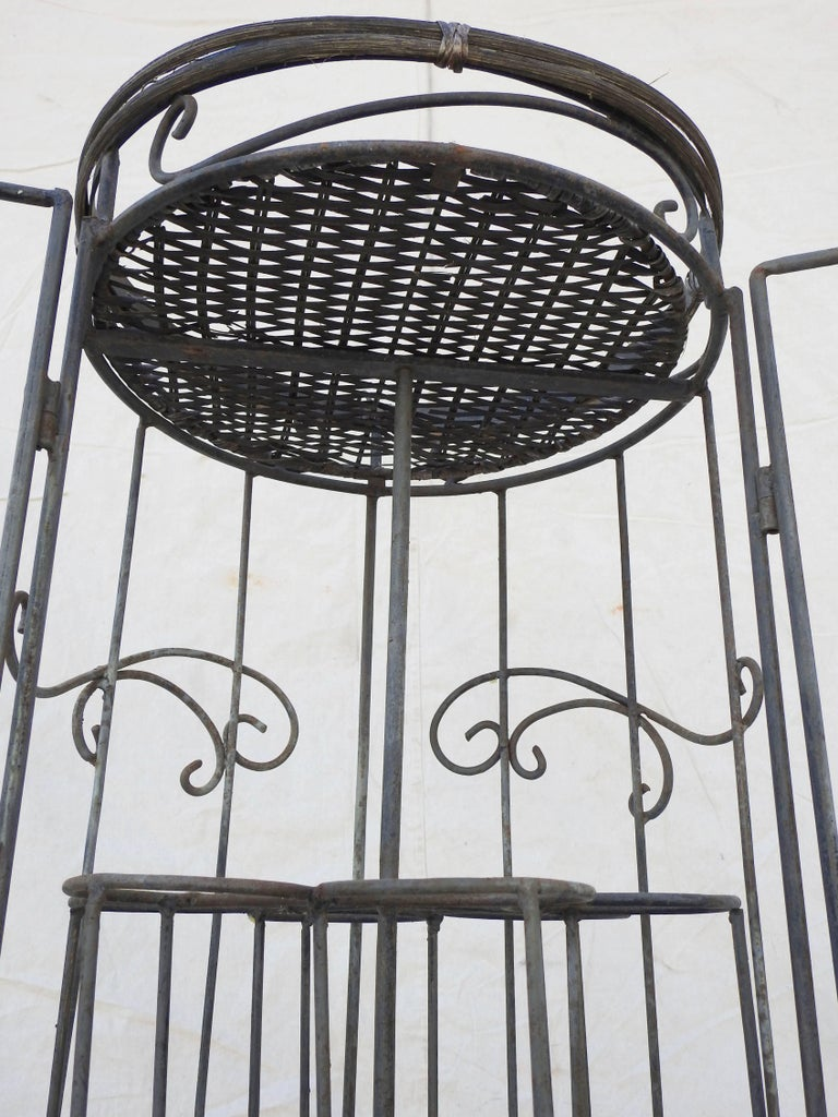 Iron and Wicker Wine Rack, 20th Century For Sale 3